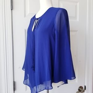 Rory Beca Royal Blue 3/4 Bell Sleeves Blouse